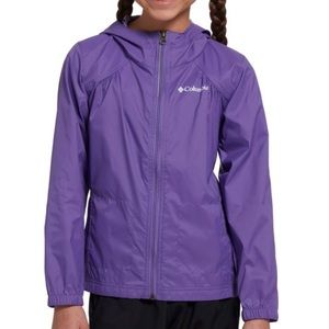 Columbia Girls' Grape Gum Switchback Rain Jacket L